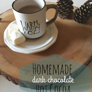 Happily Homemade| Dark Chocolate Hot Cocoa