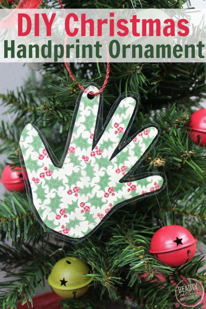 DIY Handprint Keepsake Christmas Ornament