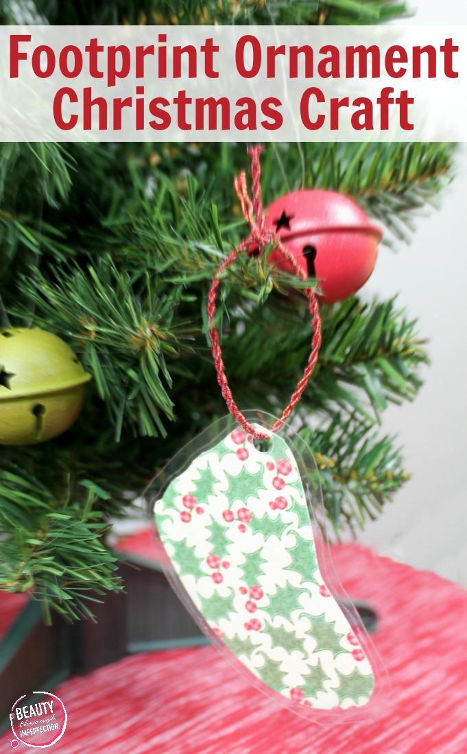 DIY Handprint Keepsake Christmas Ornament - Beauty through imperfection