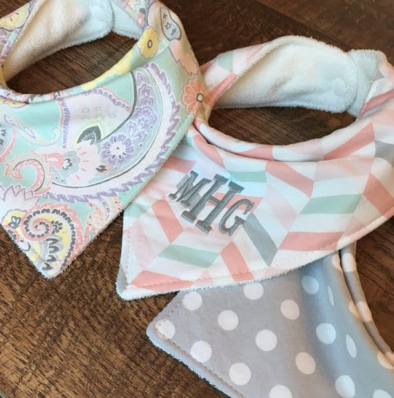 Personalized baby gifts beauty through imperfection monogrammed banadana baby bibs negle Choice Image
