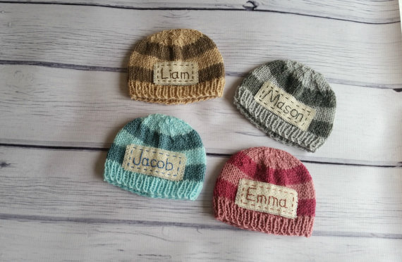 Personalized baby gifts beauty through imperfection these newborn hats are all kinds of cute on their own but the fact that you can get the babys name sewn in makes them irresistible negle Image collections