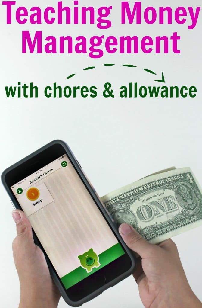 Teaching money management with chores and allowance