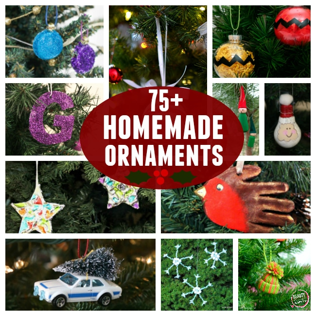 More than 75 DIY ornaments to put on your tree. There's nothing like making homemade ornaments together each year.