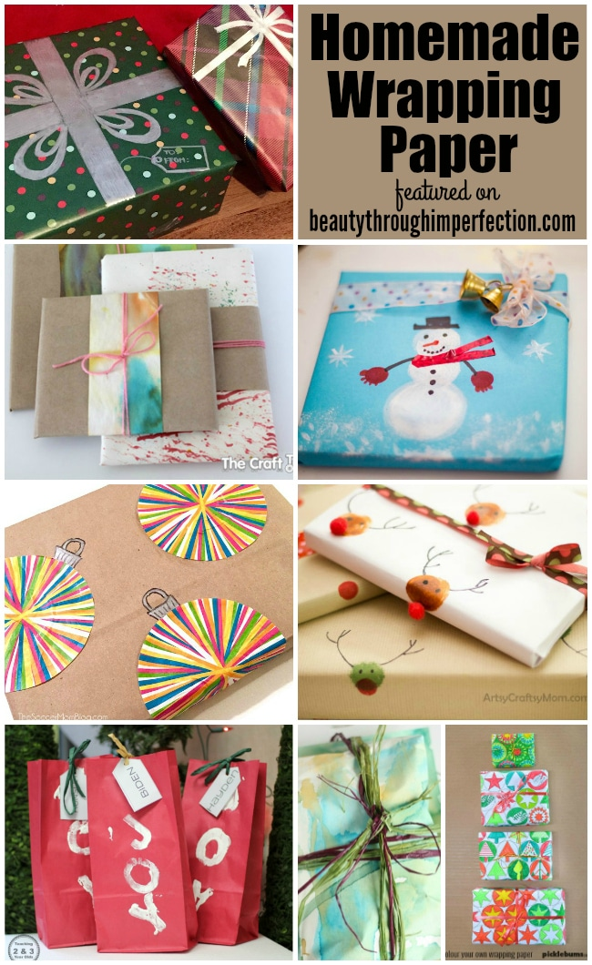 Diy Wrapping Paper Ideas Beauty Through Imperfection