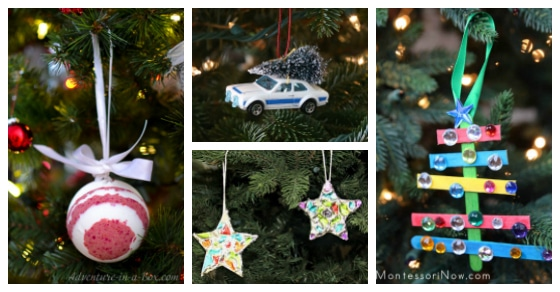 The CUTEST homemade ornaments. Make these with your family or to give as gifts this Christmas season