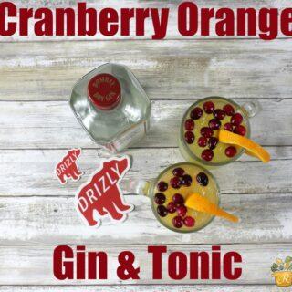 Cranberry Orange Gin & Tonic