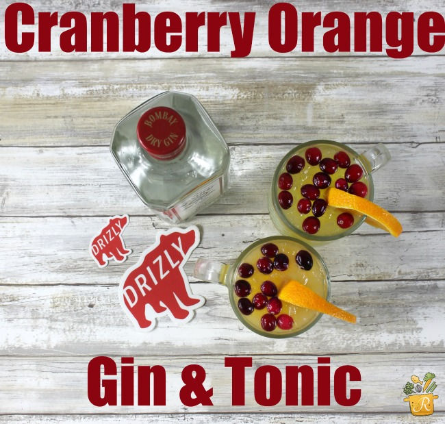 Cranberry orange gin and tonic
