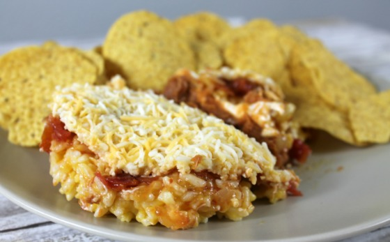 Nacho cheese rice & bean dip recipe