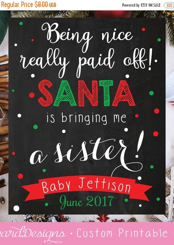 photo about Printable Baby Announcement identified as Enjoyment techniques toward announce your being pregnant upon Xmas - Magnificence