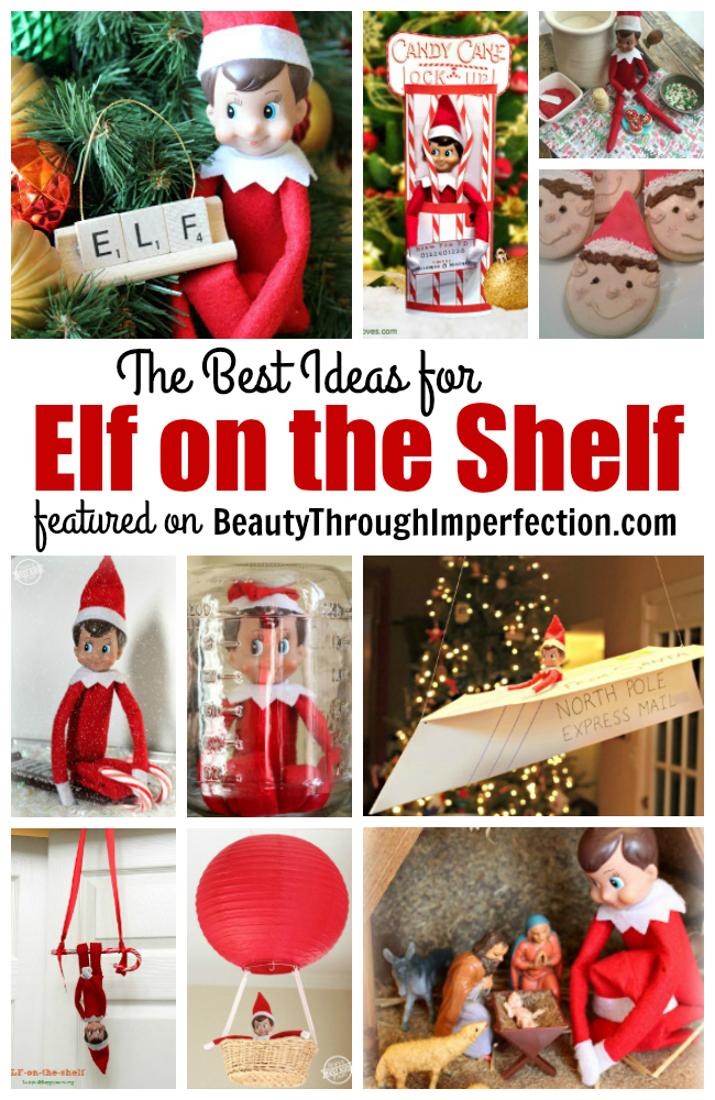The BEST elf ideas to help you hide your elf on the shelf. These will keep the kids giggling every day until Christmas!