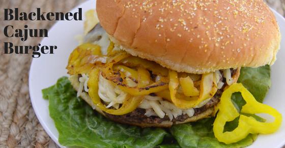 Blackened Cajun Burger with Cheese