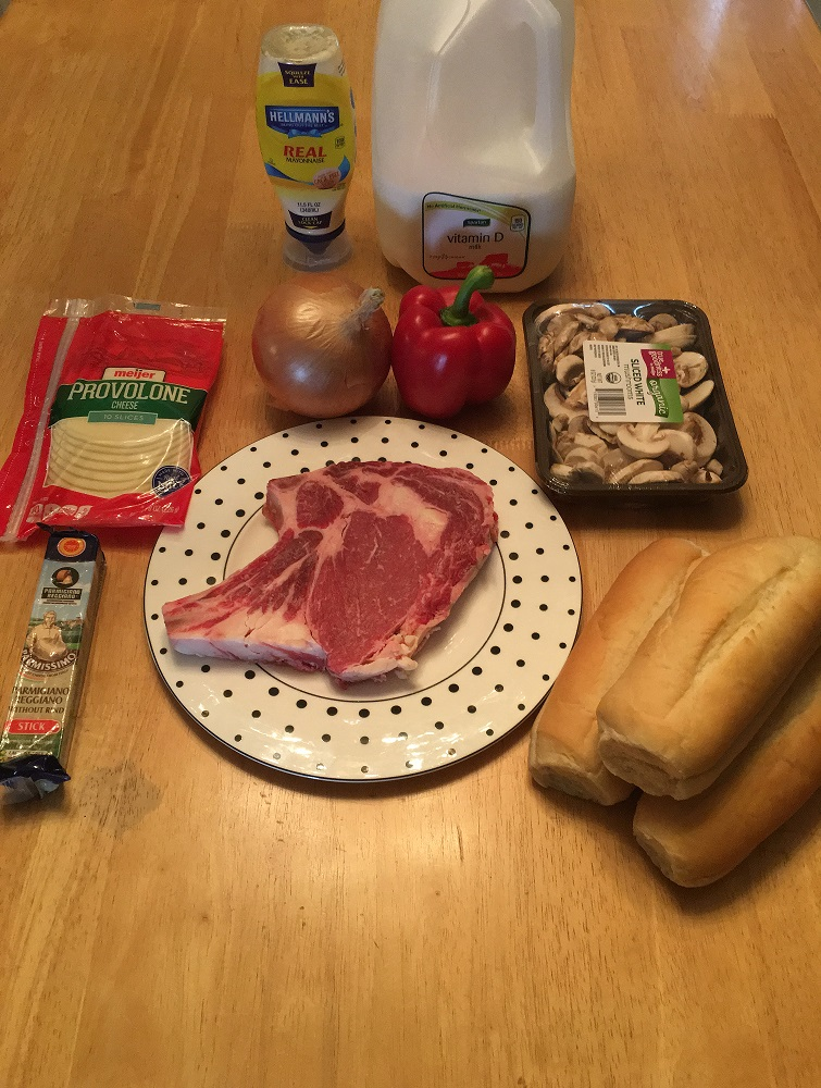 Cheesesteak ingredients