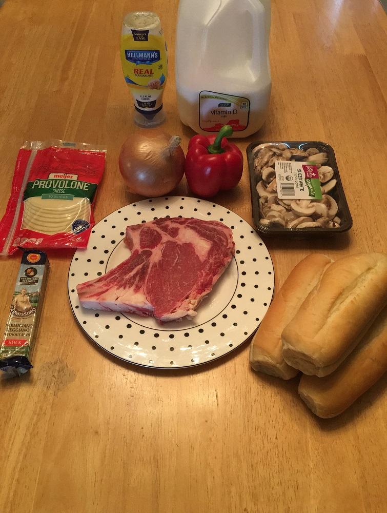 Cheesesteak ingredients