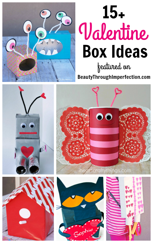 cute valentines day craft ideas 15 boxes for class through imperfection 6435