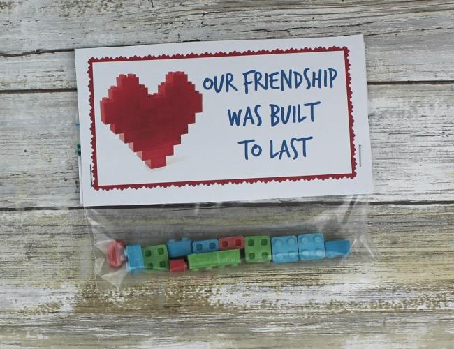 Lego inspired Valentines