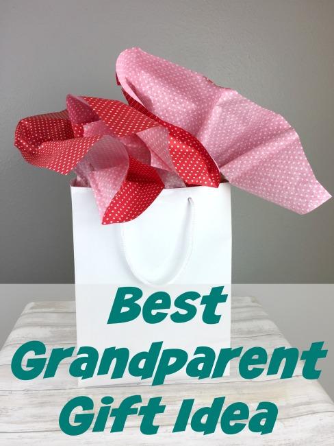 sentimental gift idea for grandparents picture frame craft