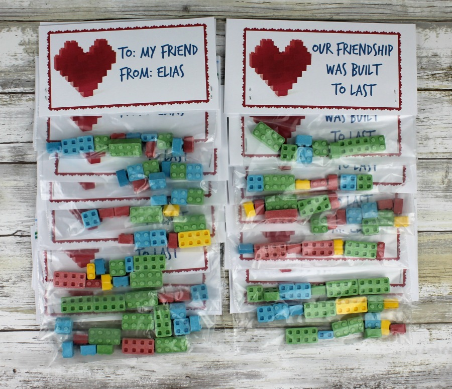 LEGO inspired Valentine for kids