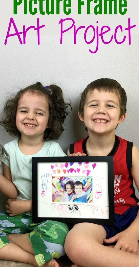 Sentimental gift idea for grandparents – Picture frame craft