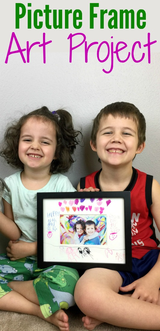 This Picture Frame Craft Project Makes The Perfect Gift Idea For Grandma And Grandpa Works Christmas Birthdays Or Even S Day