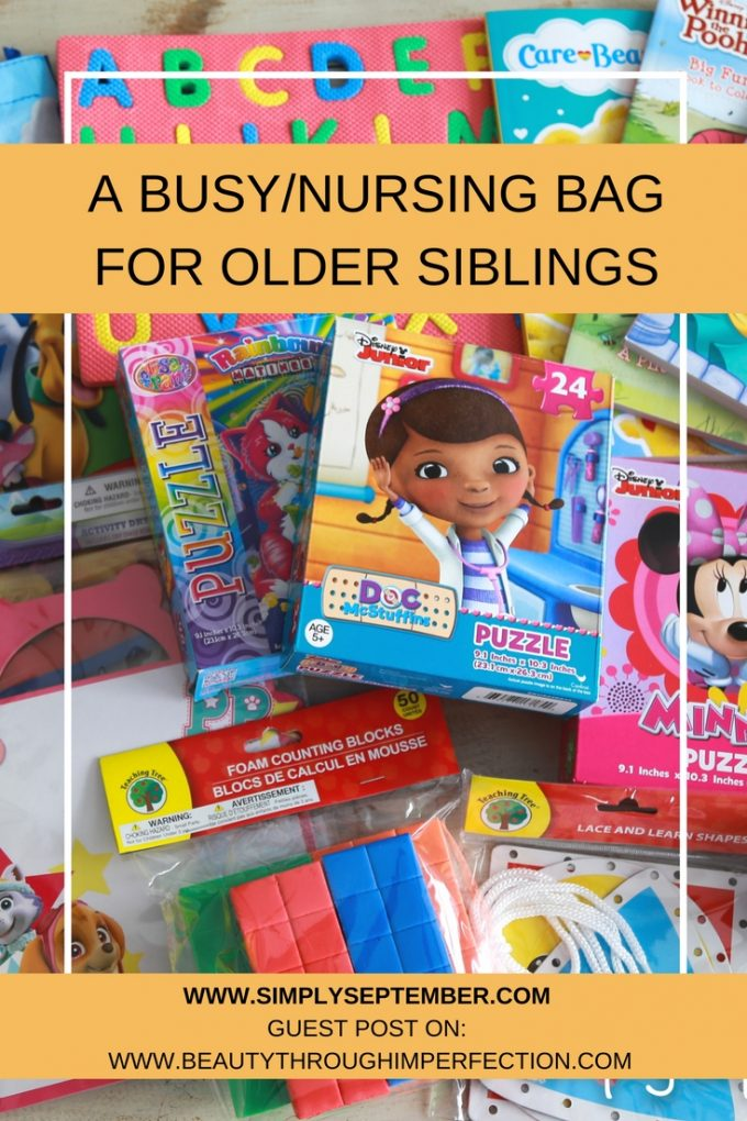 "Creating a ""Busy/Nursing Bag for Older Siblings"""