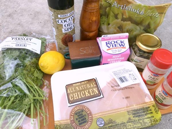 Skillet Chicken Ingredients