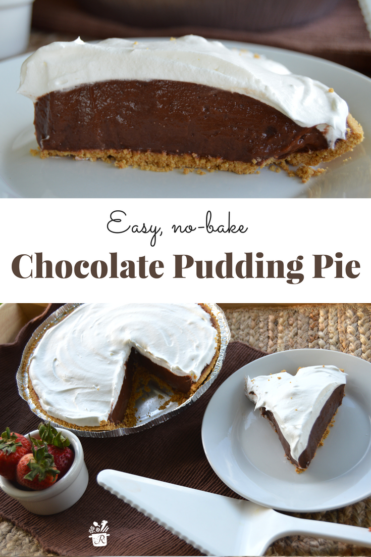 Easy Chocolate Pudding Pie Dessert Recipe