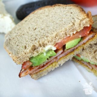 Grilled Ham and Brie Sandwich with Avocado