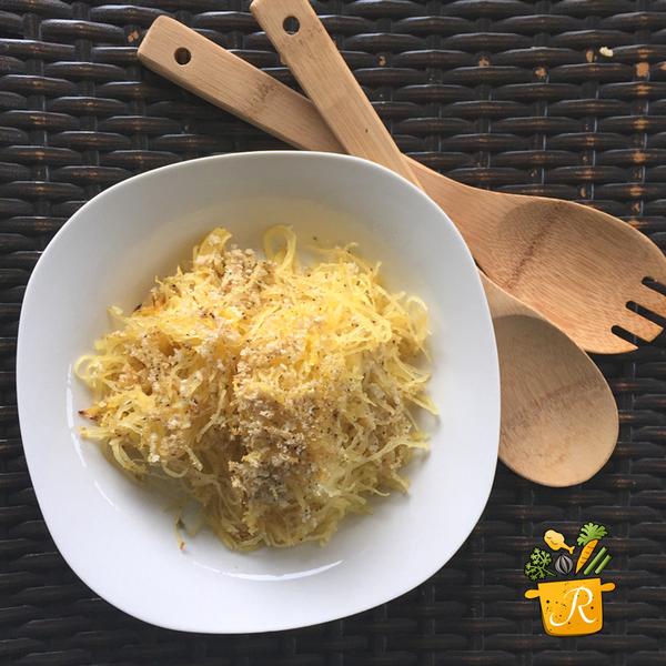 Panko Baked Spaghetti Squash