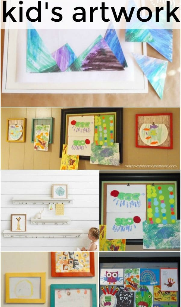 13 Ways to display and store your child's artwork