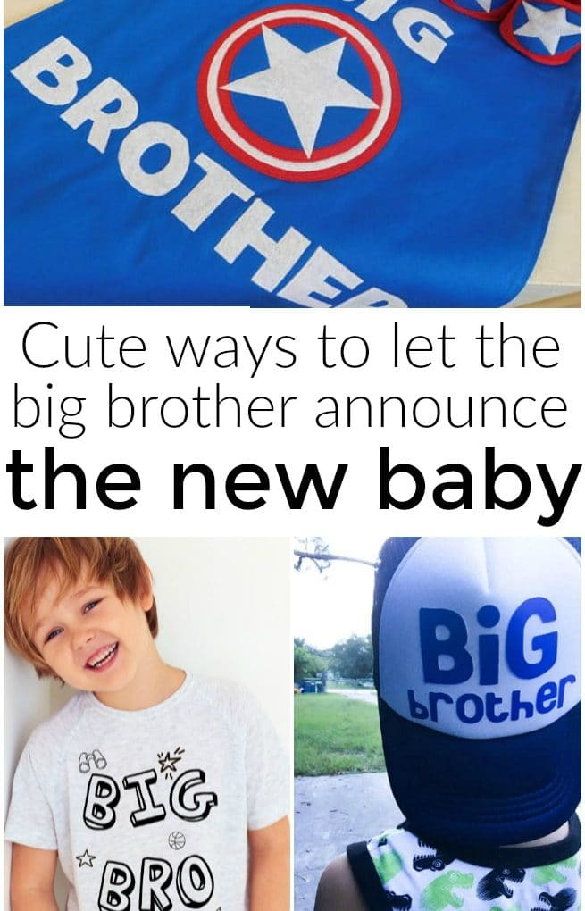 How to let the new big brother announce your pregnancy