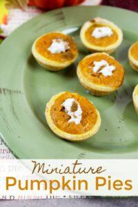 Miniature pumpkin pies - Fall dessert