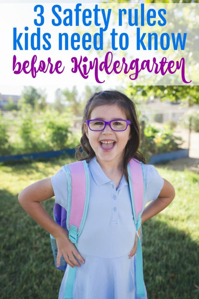 Safety rules kids need to know before they start Kindergarten