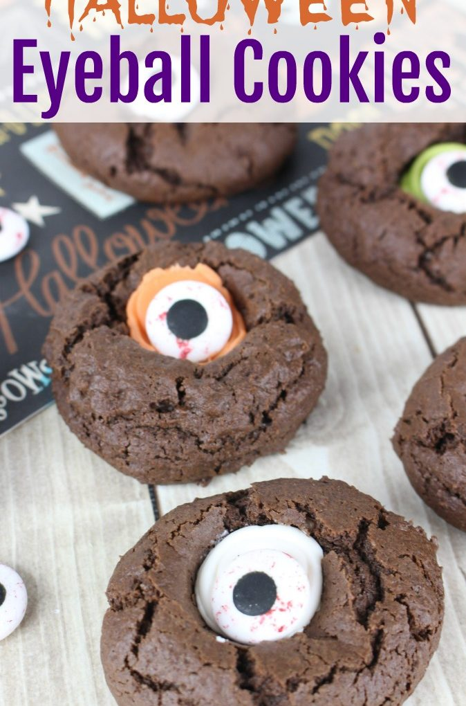 "Halloween Thumbprint ""Eyeball"" Cookies"