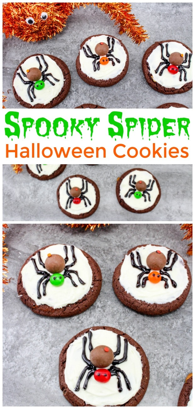 Spooky Spider Cookies - Halloween dessert perfect for preschool or class parties