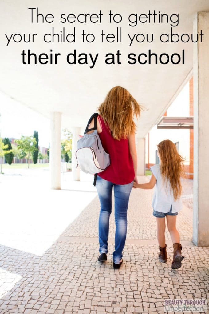 The secret to getting your child to tell you about their day at school