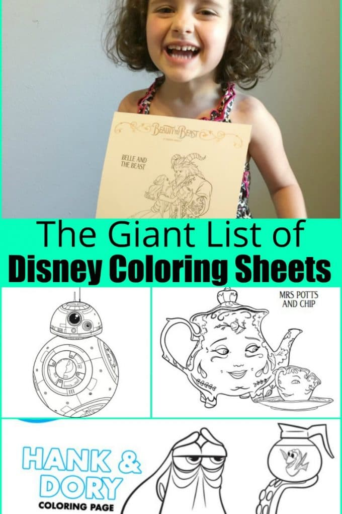 The GIANT list of free Disney Printables