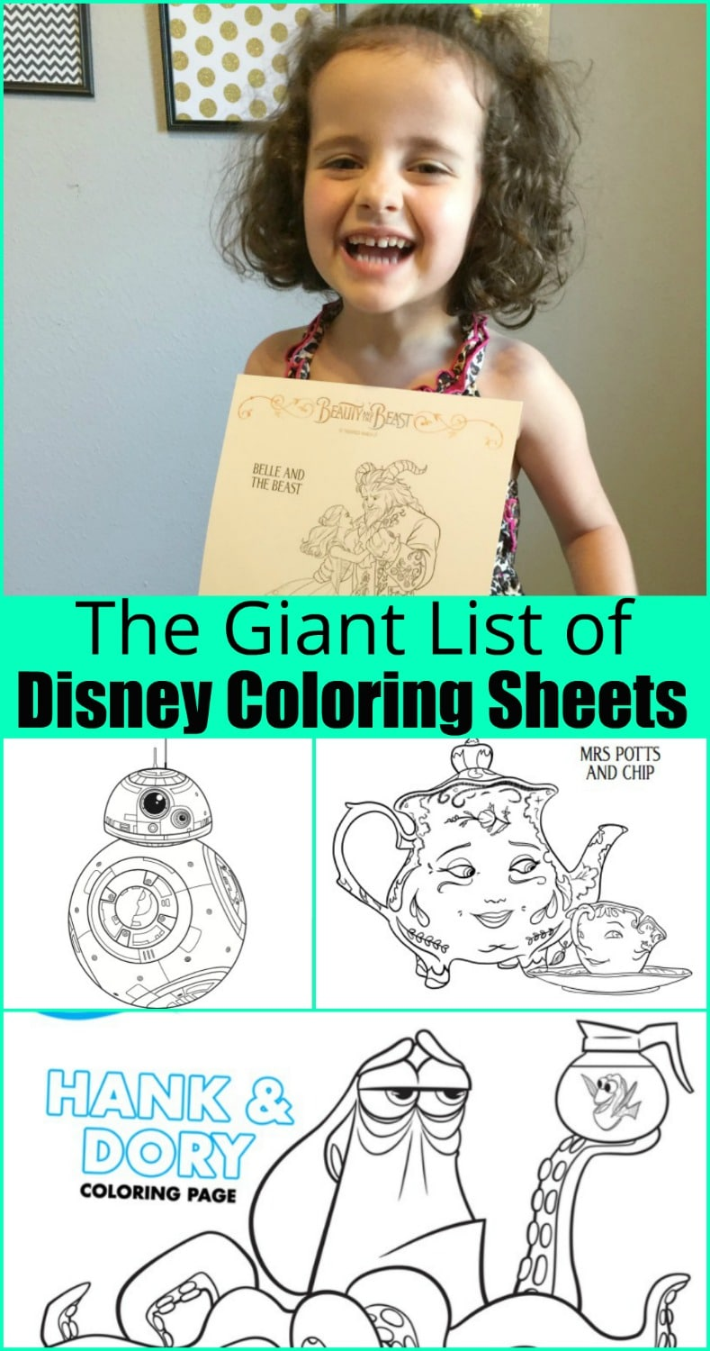 The GIANT list of free Disney Printables - Beauty through imperfection