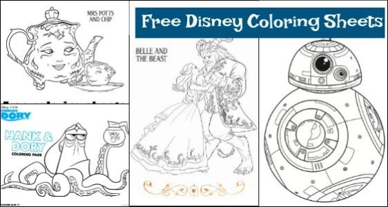 The GIANT List Of Free Disney Printables