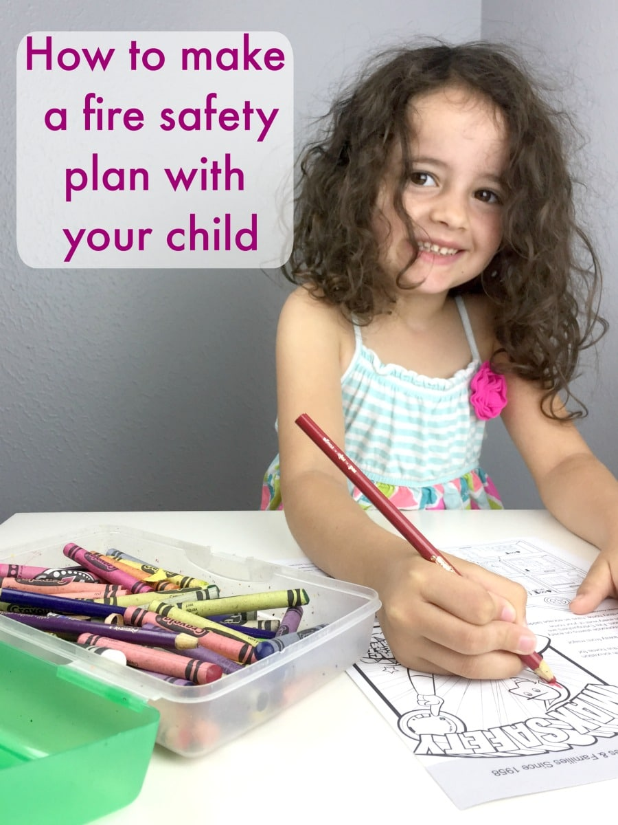 How to make a fire safety plan with your child #fire #safety #safetyforkids