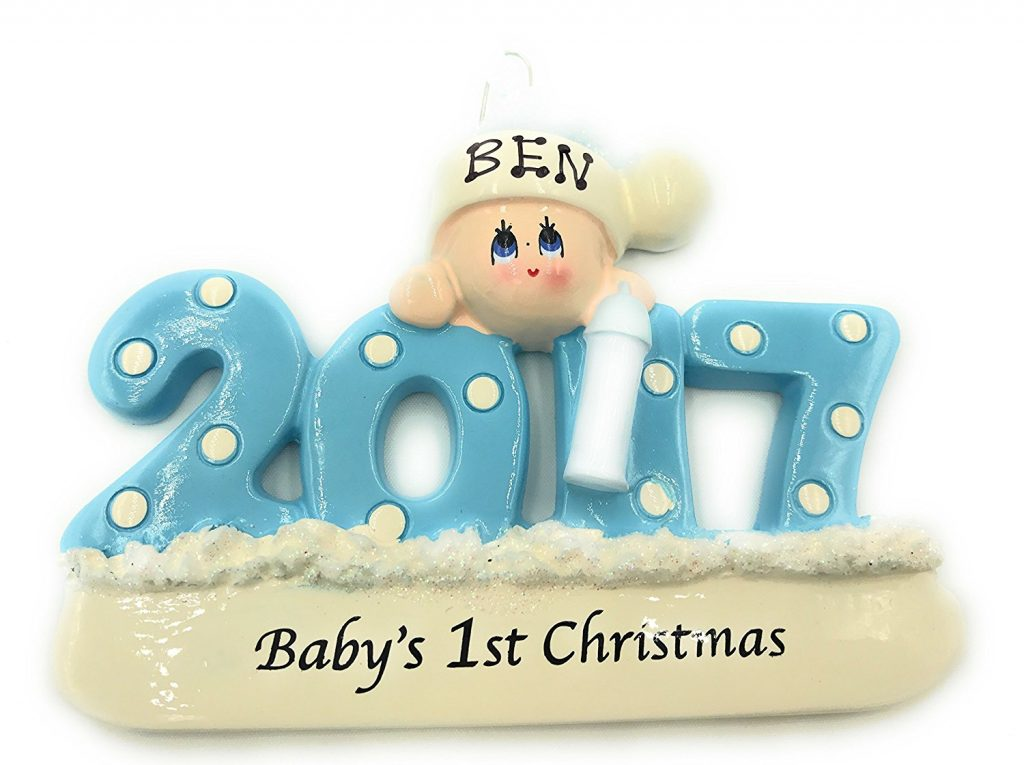 dont forget to buy a special custom babys first christmas ornament for this year these are always so cute and there are plenty of options and designs to