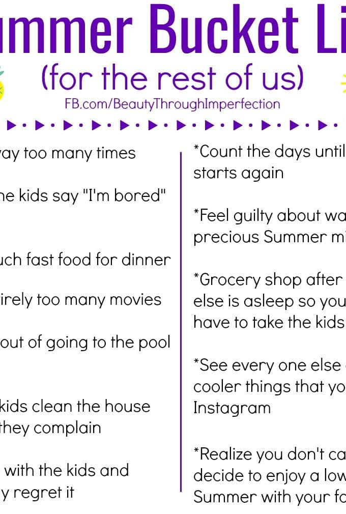 The Summer bucket list for the rest of us