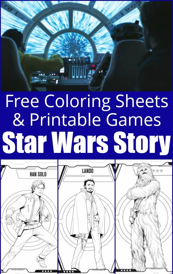 Free coloring sheets for Solo: A Star Wars Movie