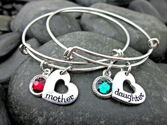 Mother Daughter Matching Heart Bracelets