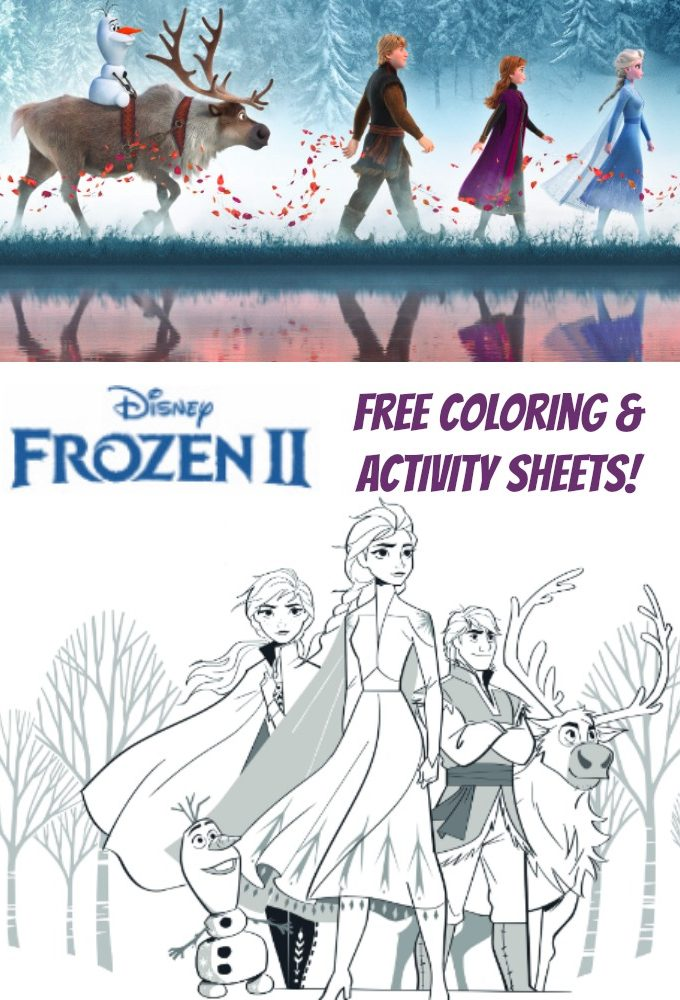 Free Coloring Pages for Disney's Frozen 2